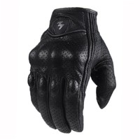 Retro Perforated Leather Motorcycle Gloves 2 Style Cycling Moto Motorbike Protective Gears Motocross Glove