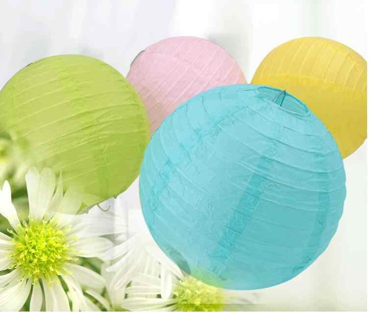 4-6-8-10-12-14-16 นิ้วเงินกระดาษโคมไฟจีนโคมไฟเทศกาลโฮลีปีตกแต่งงานแต่งงาน glim party ตกแต่งโคมไฟสีขาว