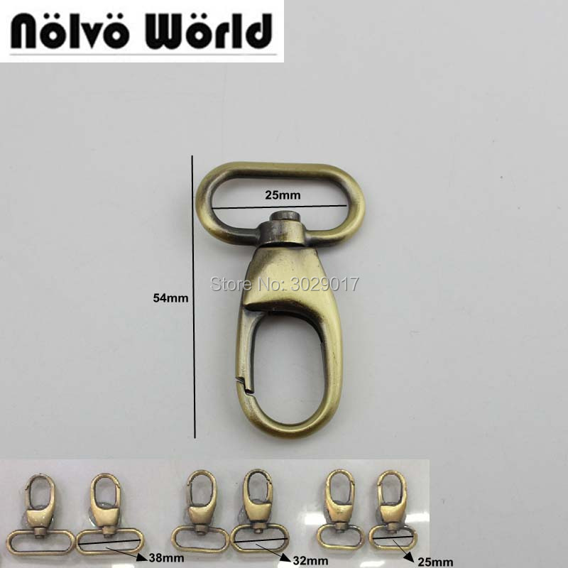 30pcs 25mm Snap Hook Swivel Hooks Thick Clasp For Genuine Leather Purse Bags Handbags Adjusted Parts Accessories