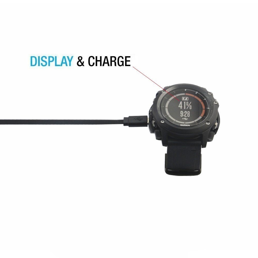 Data Sync Cradle Dock Desktop USB Charging Clip Charger for Garmin Fenix 3 HR / Fenix 3 / Quatix 3 Smart Watch Adapter(Charger) data sync charging cradle docking charger for huawei hw316 smartwatch