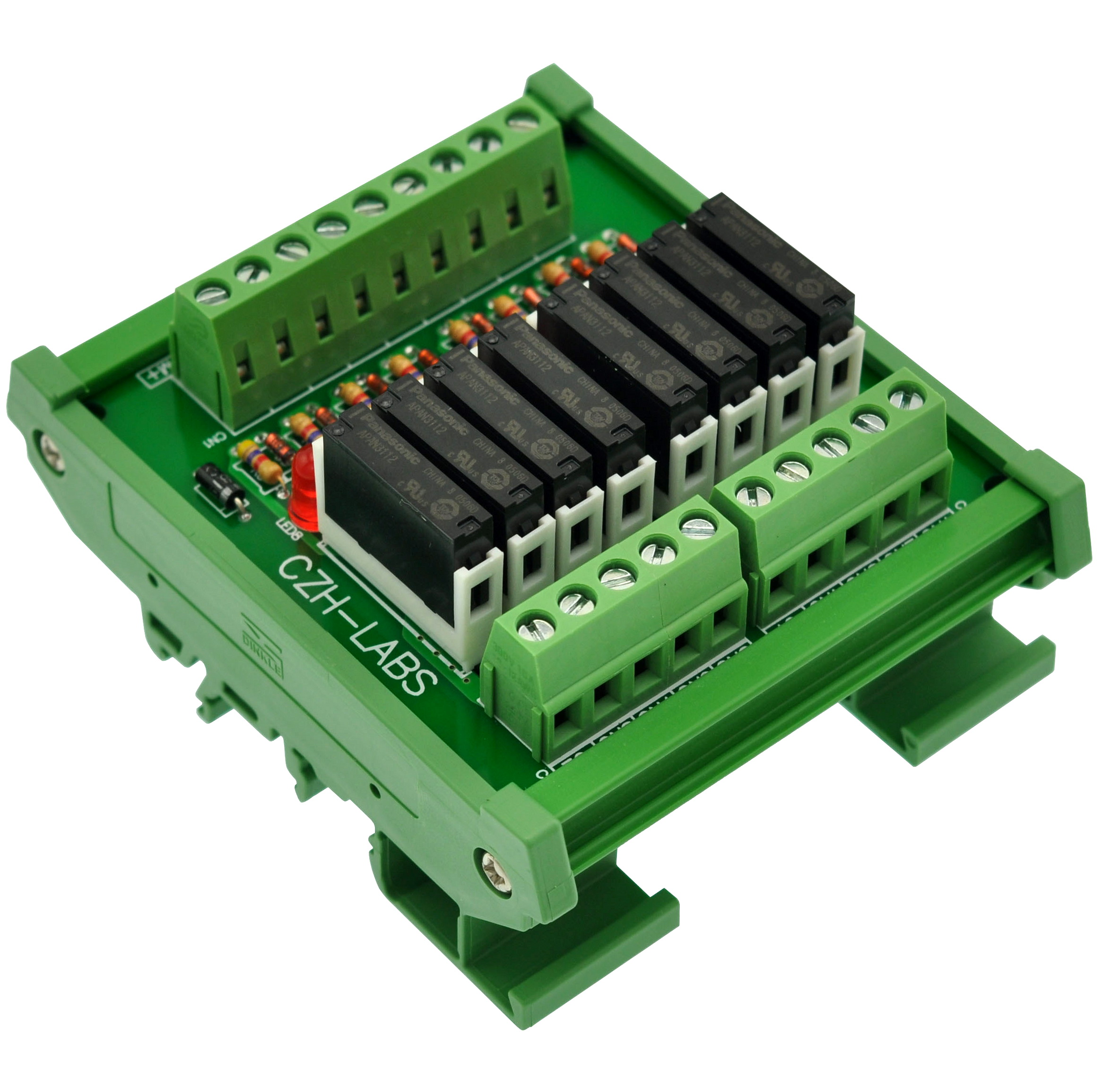 Image 2 - Slim DIN Rail Mount DC12V Sink/NPN 8 SPST NO 5A Power Relay Module, PA1a 12V-in Electronics Stocks from Electronic Components & Supplies