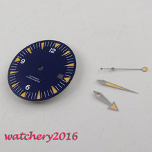 лучшая цена 31mm blue sandwich Watch Dial for eta 2824 2836 Movement (dial + hands)
