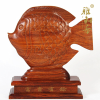 T Gallery Vegetarian Mahogany Crafts Town Store Treasure Rich Youyu Fish Bream Wood Color Decoration Feng
