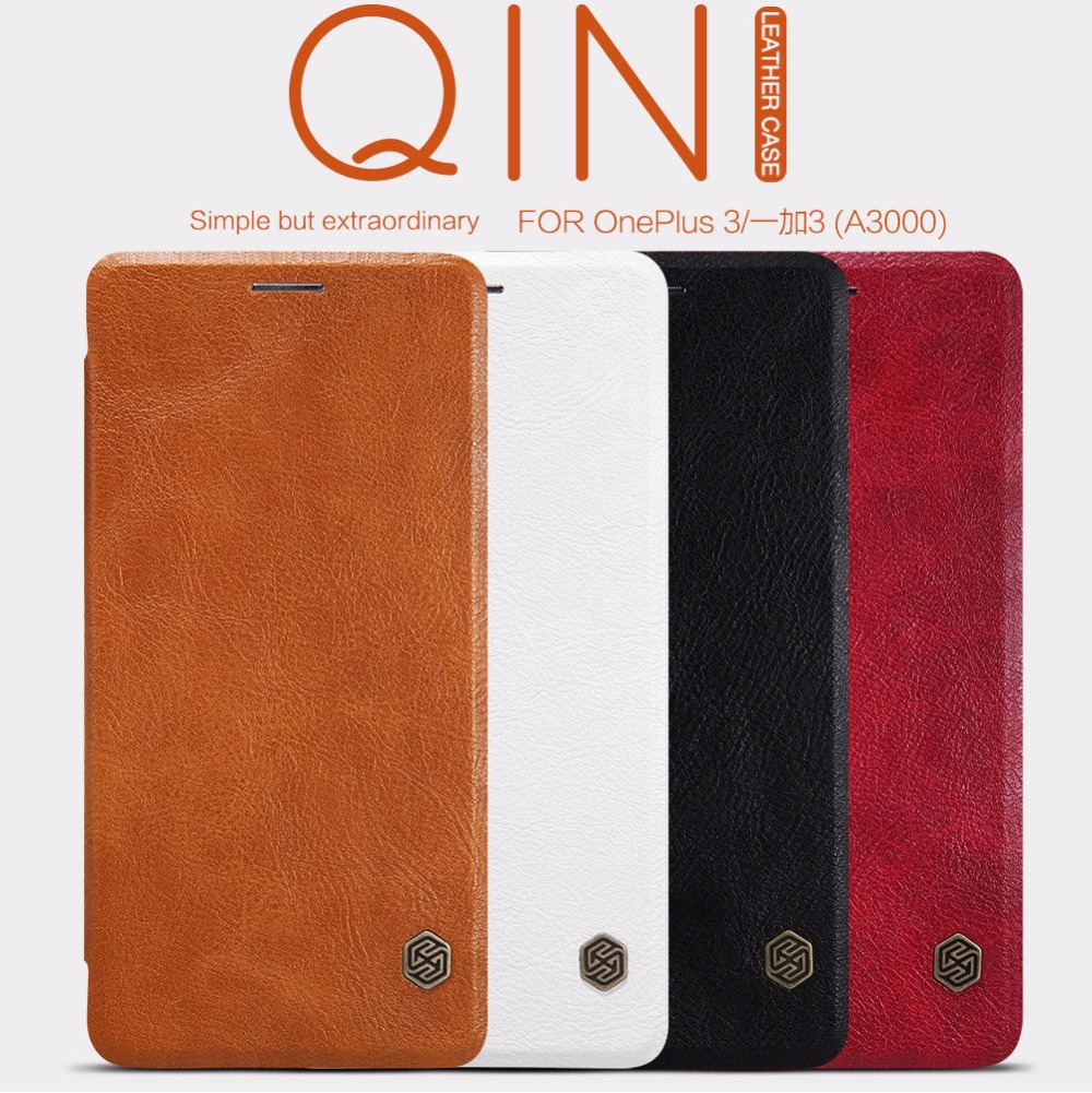 Nillkin Genuine Wallet Leather Case Cover For Oneplus Two One Plus 2 Oneplus 2 / Oneplus 3 Oneplus 3T 5 5T Cases
