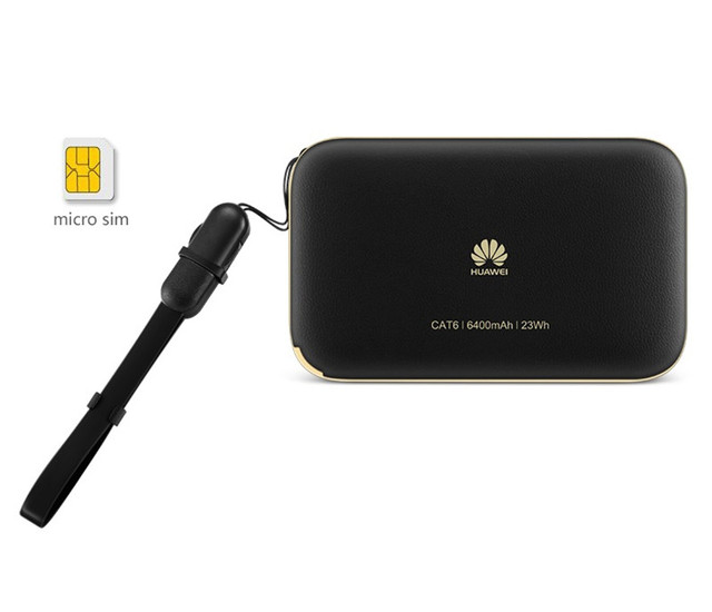 Original 300Mbps Huawei WiFi 2 Pro E5885 3G 4G LTE Mobile Hotspot – Wireless Pocket WiFi Router with 6400mAh Power Bank