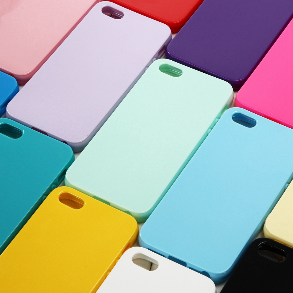 Cute Solid Candy Color TPU Case for iPhone 5 5S Silicone Soft Case for iPhone 5S Protective Rubber Cover f
