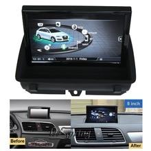 8 дюймов Автомобильный мультимедийный плеер для автомобиля Audi Q3 2012- с gps навигации MP5 Wi-Fi(без функции зеркального соединения