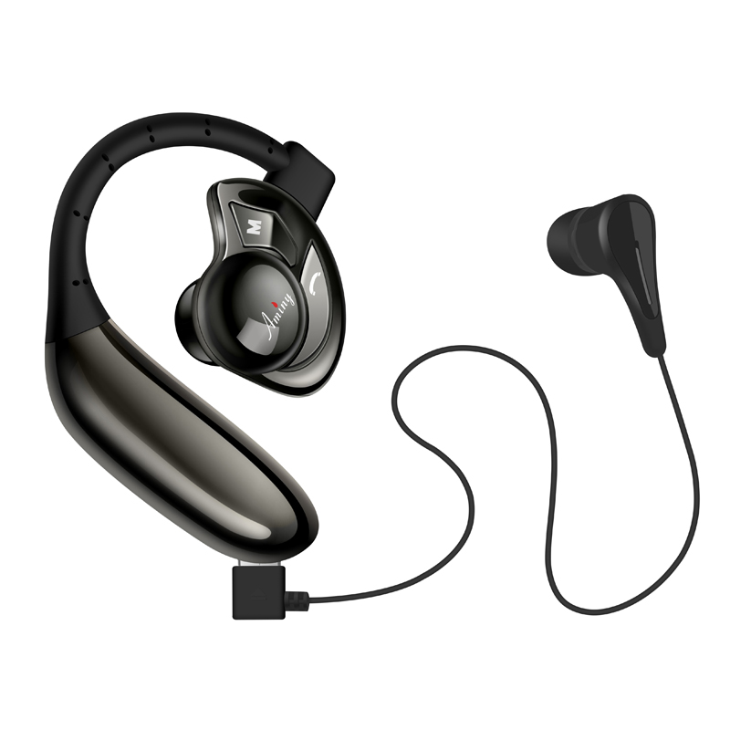 sports headphones bass ear hook headset sports in ear earphones running with. Black Bedroom Furniture Sets. Home Design Ideas