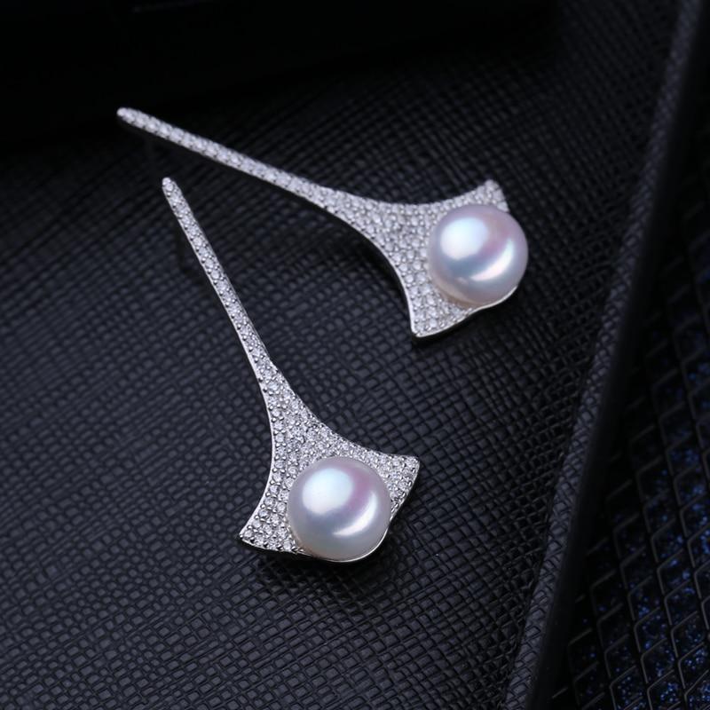 FENASY saldūdens pilienveida pērļu auskari AliExpress 925-sudraba - Skaistas rotaslietas - Foto 3