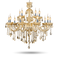 Modern Crystal Led Chandelier Luxury Indoor Lighting Fixture Home Decoration Glass Hanging Lamps Living Room Light Bedroom Gold