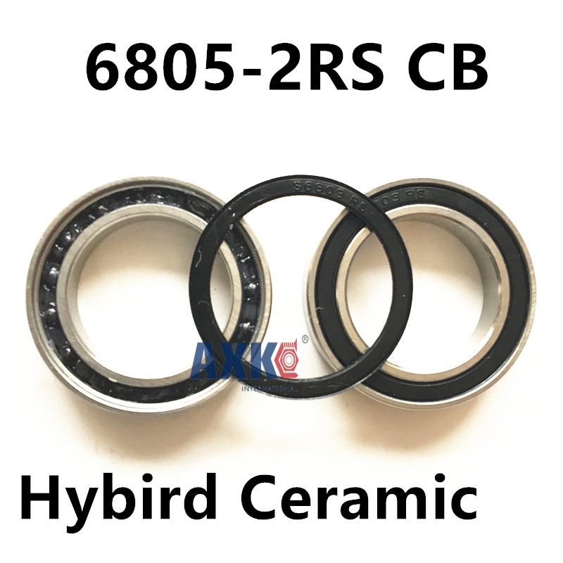 6805-2RS CB 6805 61805 2RS SI3N4 hybrid ceramic deep groove ball bearing 25x37x7mm 2pcs 6805 2rs 25x37x7mm hybrid ceramic bearing bicycle bottom brackets spares si3n4 ball bearings 6805rs