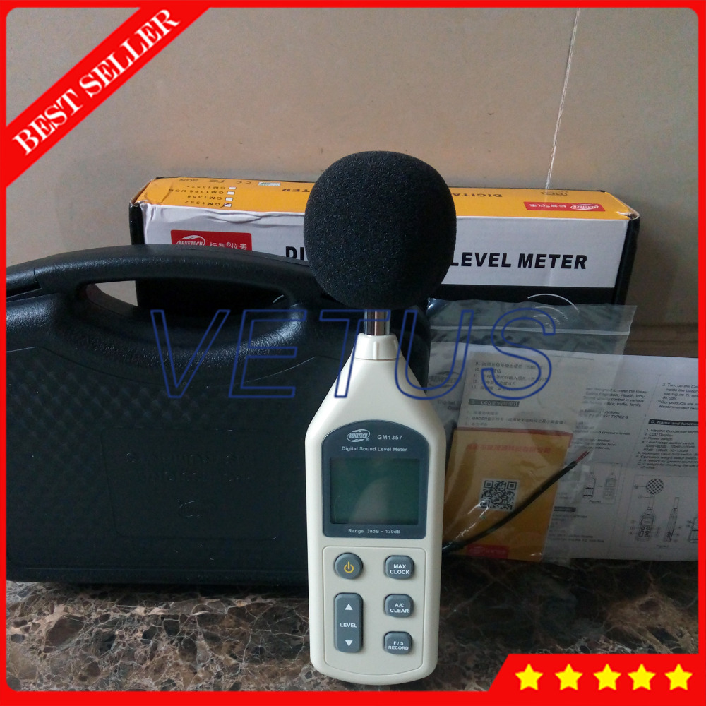 GM1357 30 ~ 130 dB Decibel USB Noise Measurement Digital Sound Level Meter