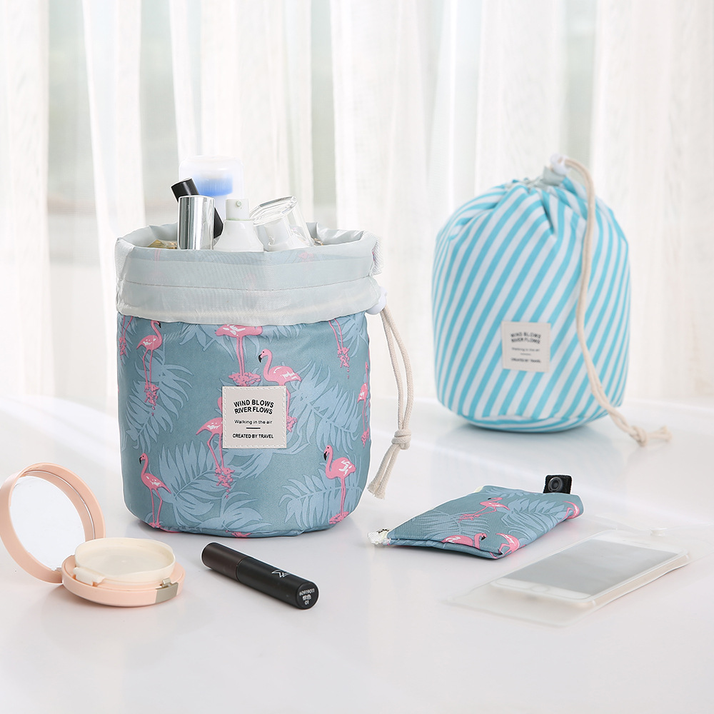 Hot Sale Round Waterproof Makeup Bag Travel Cosmetic bag Organizer Toiletry Makeup Bags For Women Ladies Box Neceser(China)