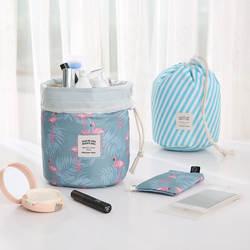 Лидер продаж Круглый водостойкий сумка для макияжа в путешествии косметичка Органайзер несессер макияж сумки для женщин дамы коробка Neceser
