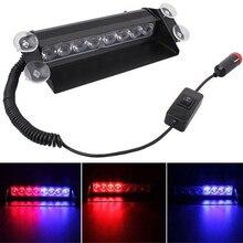 Новый красные, синие светодио дный светодиодных автомобилей Strobe Light Flash аварийного полиции Предупреждение Детская безопасность лампы CSL2018