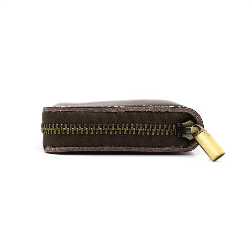 AETOO Original Handmade Cow Leather Men Small Condom Bag Holder Women Mini Coins Money Wallet Condom Wallet Male Coin Bag Purse
