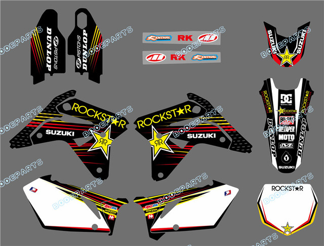 Star NEW EAM DECALS M GRAPHICS BACKGROUNDS STICKERS FOR - Suzuki motorcycles stickers