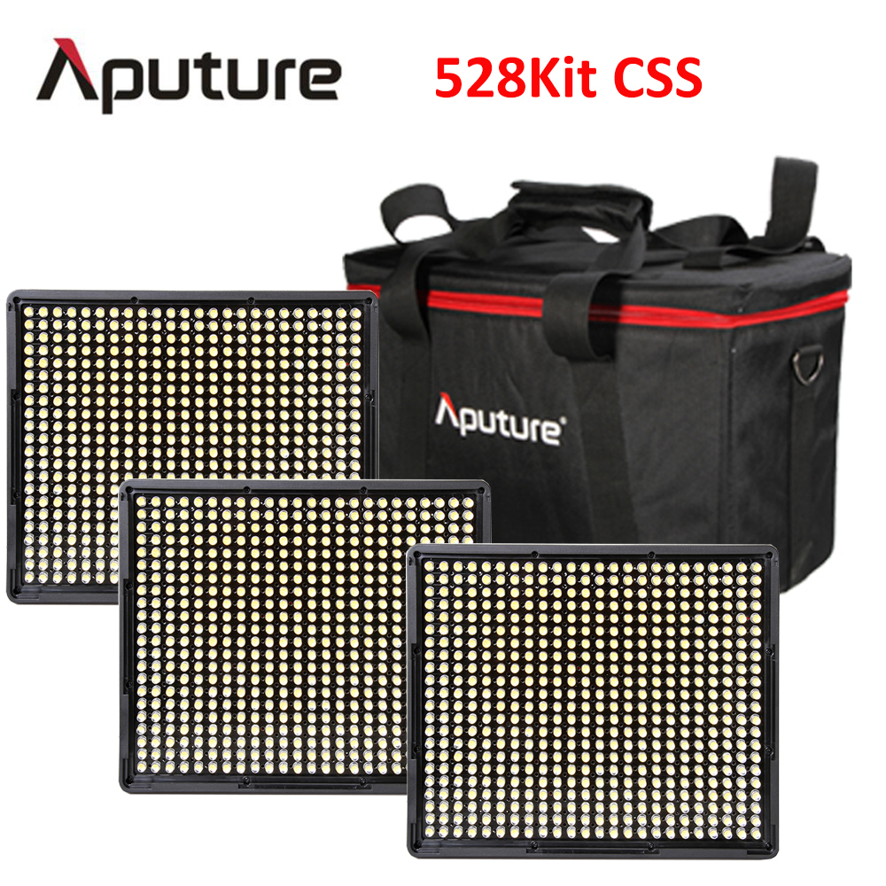 Aputure AL-528C+AL-528S+AL-528S 528KIT-CSS LED video camera light panel light LED photography studio light led camera light