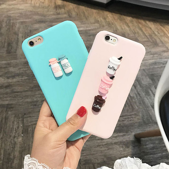 357feda050d Abbery 3D Milk Coffee Cute Soft TPU Funda Case for iPhone XR XS X Max  Silicone Back Cover for iPhone 5 5S SE 6 6S 7 8 Plus Case