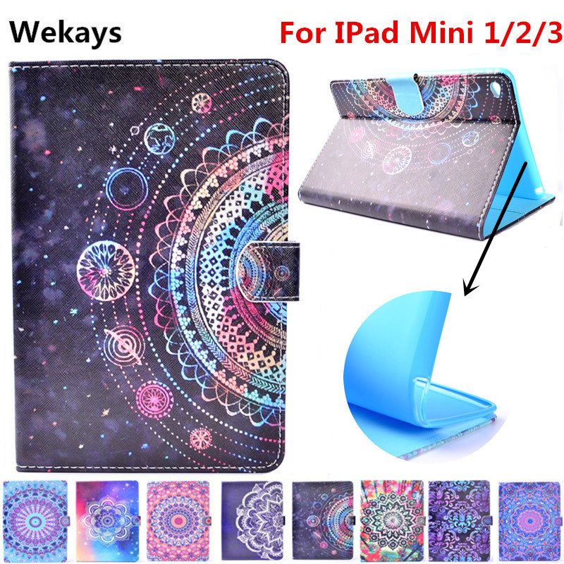 Wekays Para Apple IPad Mini 1/2/3 Estande Couro Inteligente Virar Caso Fundas para Coque Mini IPad 1 2 3 Caso Da Tampa Do Tablet Para IPad Mini