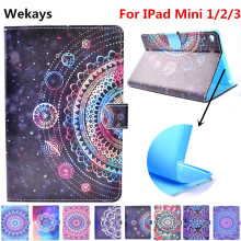цены Wekays For Apple IPad Mini 1/2/3 Stand Smart Leather Flip Fundas Case For Coque IPad Mini 1 2 3 Tablet Cover Case For IPad Mini