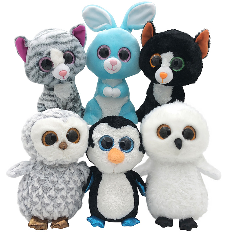 9.4 25CM Ty Beanie Boos Soft Dog Plush Toy beanie boo Animals Owl Peter Rabbit Stuff Doll Cat PenguinTy Toys For Girl Children ynynoo hot ty beanie boos big eyes small unicorn plush toy doll kawaii stuffed animals collection lovely children s gifts lc0067