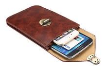 Человек Зажим для Ремня Открытый Мешок Мобильного Телефона Кожаный Чехол Для Motorola Moto М, Мото G4/G4 Плюс/X, Droid Maxx 2, Homtom HT30