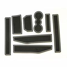 Anti-slip Non-slip Borracha Para Land Range Rover Evoque 2012 2013 2014 2015 Copo Ranhura Portão Adesivo pad Porta Ranhura Mat
