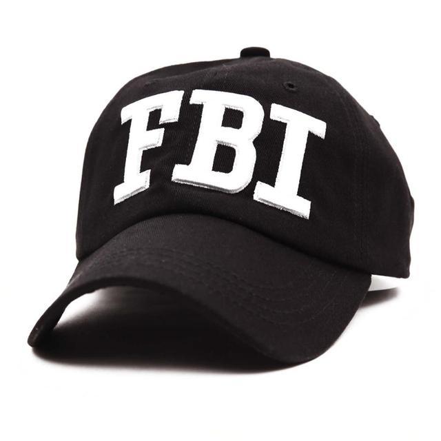 """2 Del Ricamo di stile """"POLIZIA"""" """"FBI"""" Lettera Berretto Da Baseball di Snapback Cappelli per le Donne Degli Uomini Cap bone"""
