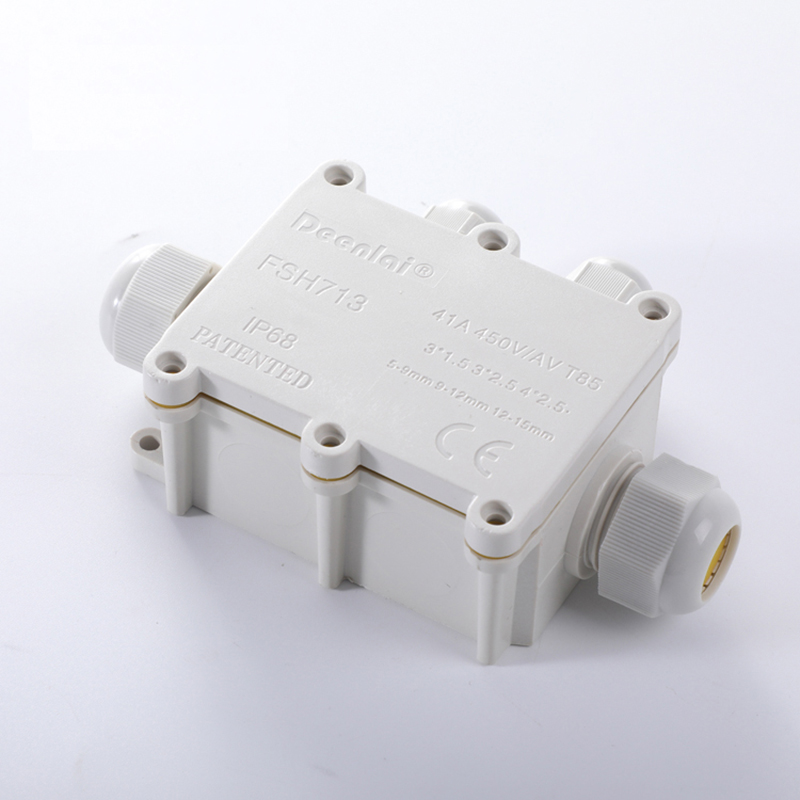 outdoor Waterproof junction box IP68 underwater wiring white connection enclosure one into three out box with terminal in Connectors from Lights Lighting
