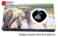 Qingmos wish pearl 20 мм Клетка слона Чокеры ожерелье для женщин