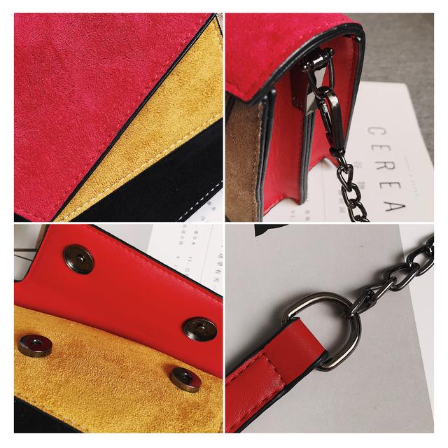 Women's Leather Patchwork Crossbody Bag