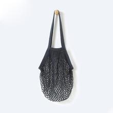 Reusable Fruit Shopping String Grocery Shopper Cotton Tote Mesh Woven Net Shoulder Bag Mesh Net Shopping Bag High Quality