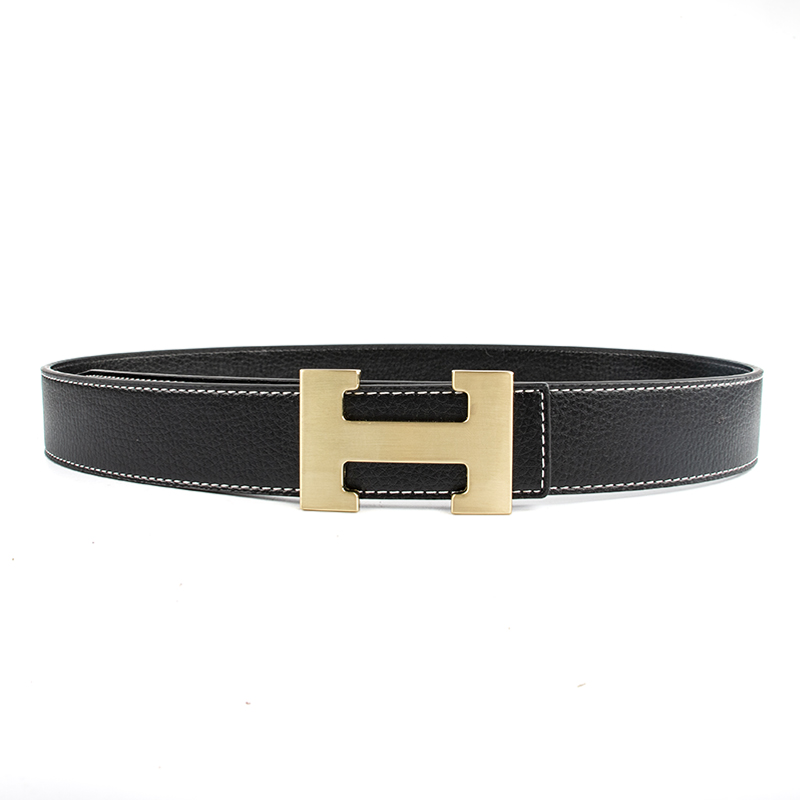 ECHAIN Luxury H Buckle Brand Designer   Belts   Men High Quality Women Punk Genuine Real Leather Male Strap for Jeans