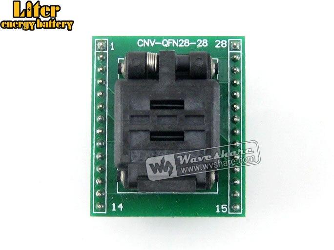 QFN28 TO DIP28 (A) QFN28 MLF28 MLP28 Plastronics 28QN50K15050 IC Test Socket Programming Adapter 0.5mm Pitch