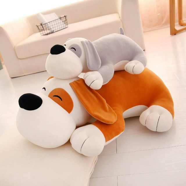 Stuffed animals plush soft kawaii sleeping big prone dog stuffed toys to  give women s birthday gifts girlfriend gift 40cm 50cm c0d37e67df