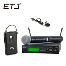 ETJ Brand SLX24/BETA58 58A UHF Professional Wireless Microphone System Handheld Lavalier
