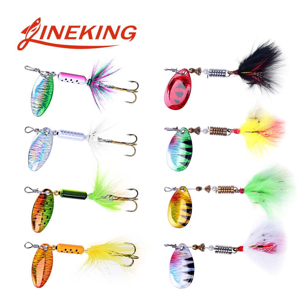 LINEKING 1Pcs 4g 6g Spinner Spoon Metal Bait  Fishing Lure Wobblers CrankBaits Jig Shone Metal Sequin Trout  Metal Jigging Lure