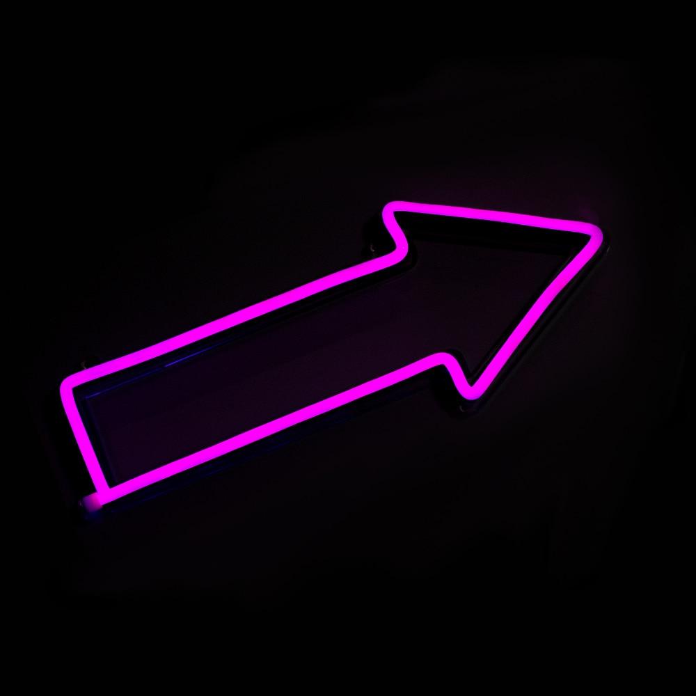 Chi-buy Cool LED neonska svjetlost Strelica Znak za označavanje - Kućni dekor - Foto 2