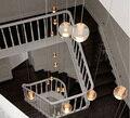 G4 led ac110v 220 v ac12v100mm diâmetro bola de vidro luz pingente de cristal restaurante lâmpada bar escada cafés droplight lâmpada bonita