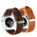 2 color leather strap & Classic stainless steel clasp Band For apple watch 38mm / 42mm Watchband