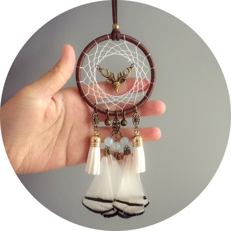 New Arrival Indian Dream Catcher Car Home Hanging Decorations Feather Dream Catchers Hanging American Style Best Wish Gift image