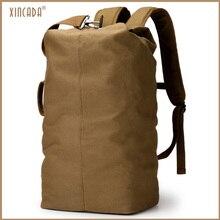 XINCADA Travel Large Capacity Canvas Backpacks Huge Duffel Bag Bucket for Men
