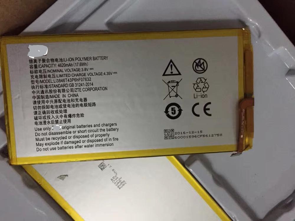 3.8V 4620mAh Li3846T43P6hF07632 For AT&T Trek 2 HD For ZTE K88 Battery battery for zte battery for 3.8v battery - title=