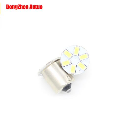 10X 1156 BA45S P21W 5630 car LED 6 SMD light R10W Rear Turn Signal Steering lamp Rreversing light xenon white Auto Bulb paking
