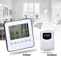 Digital Wireless Indoor Outdoor Weather Station Sensor Temperature Humidity Meter Large Screen Display