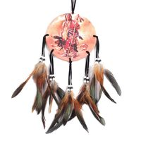 New Indian Oil Painting Character/Horse Dream Catcher With Pattern Of Horse/Character