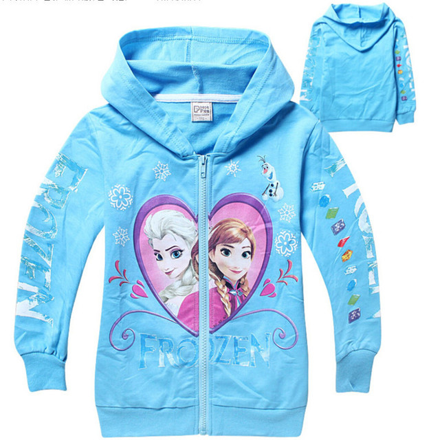 Ice colors fleece Children's cotton long sleeve T-shirt Hoodie jacket of the girls