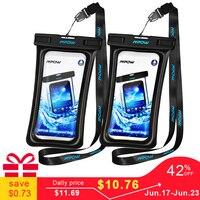 Mpow IPX8 водонепроницаемая сумка Универсальный 6,5 дюймовый мобильный телефон сумка для плавания чехол для фотосъемки под водой для iPhone Xs samsung ...