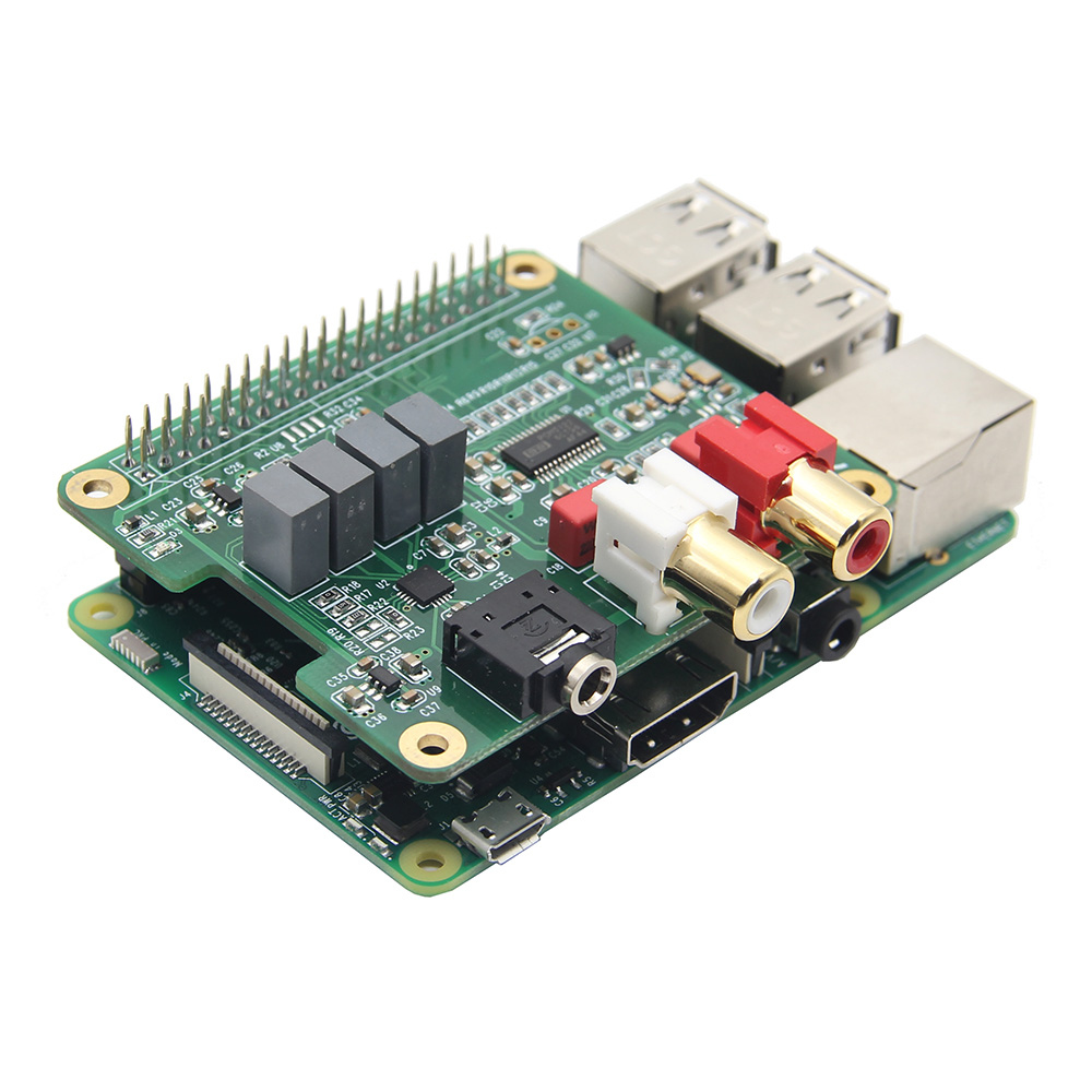 LEORY RPI-HIFI-DAC Module PCM5122 HIFI DAC Audio Card Expansion Board For Raspberry Pi 3 Model B/2B/B+ ugeek aoide hifi dac audio sound card module i2s interface for raspberry pi b diy your hifi player with raspberry pi